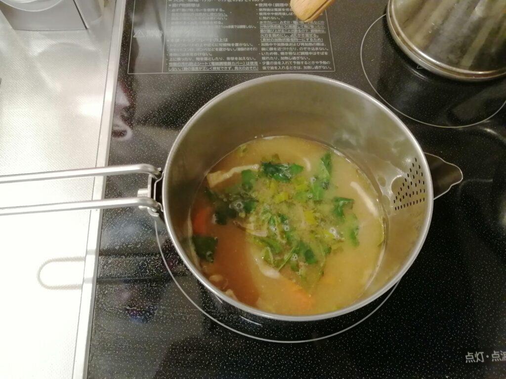 干し野菜の味噌汁を作るのに必要な道具